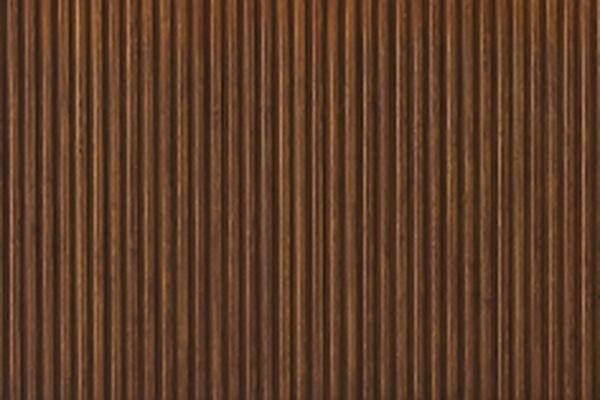 Platte aus umweltfreundlichem Bambusholz, gerippt